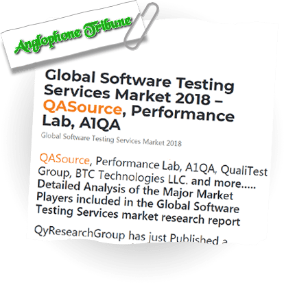 Global Software Testing Services Market 2018 – QASource, Performance Lab, A1QA