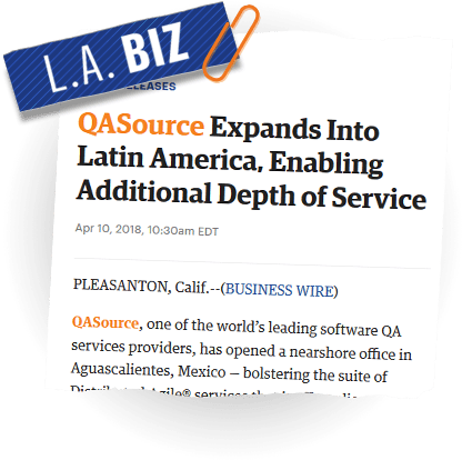 QASource Expands Into Latin America, Enabling Additional Depth of Service