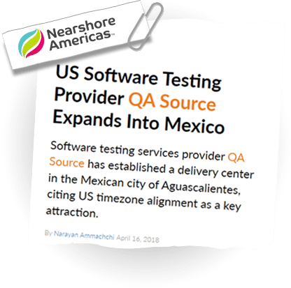 US Software Testing Provider QASource Expands Into Mexico