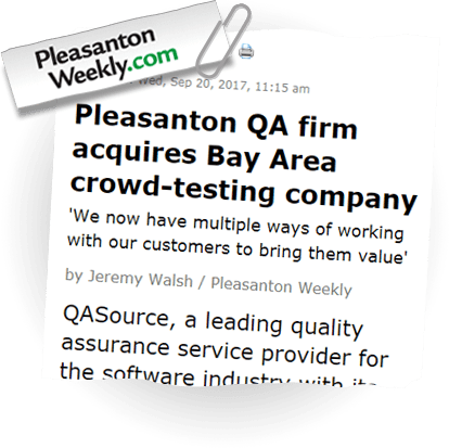 QASource on Pleasanton Weekly