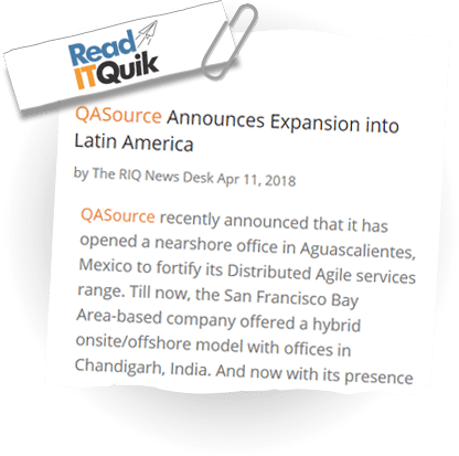 QASource Announces Expansion Into Latin America