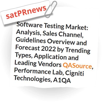 Software Testing Market: Analysis, Sales Channel, Guidelines Overview And Forecast 2022 By Trending Types, Application And Leading Vendors QASource, Performance Lab, Cigniti Technologies
