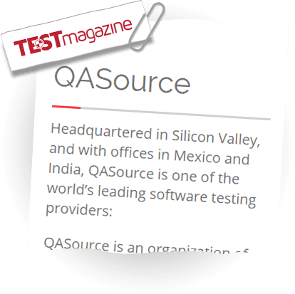 QASource on TEST Magazine