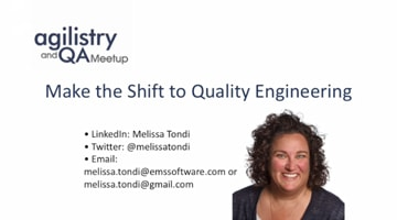 Make the Shift to Quality Engineering
