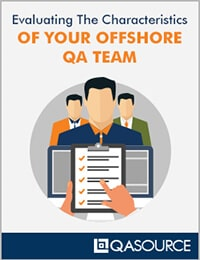 Evaluating The Characteristics Of Your Offshore QA Team Worksheet